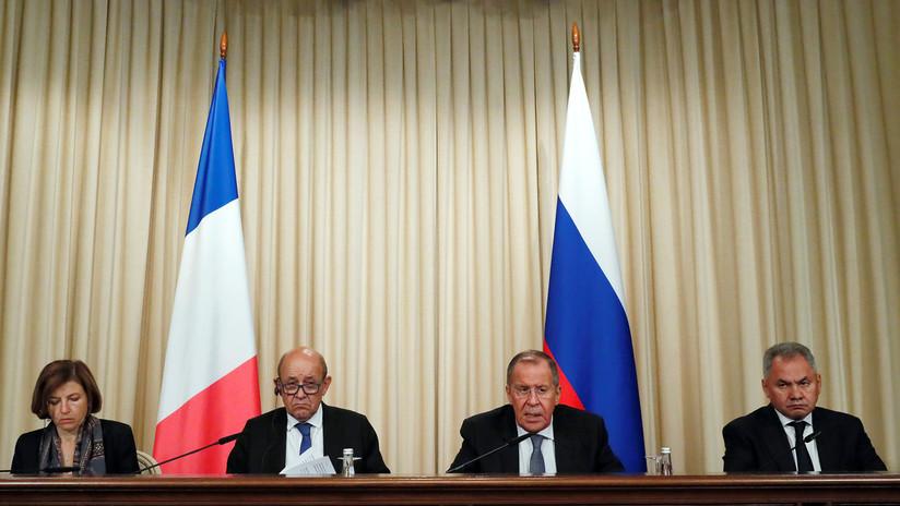 """""""Ha llegado el momento"""": ministros franceses abogan por aliviar las tensiones con Rusia durante una reunión en Moscú"""