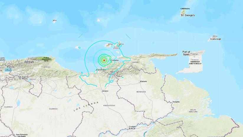 Sismo de magnitud 5,3 se registra cerca de las costas de Venezuela