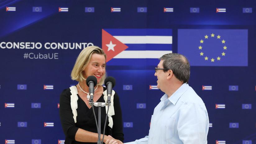 La UE ofrece apoyo financiero a Cuba y rechaza la aplicación de la ley Helms-Burton por parte de EE.UU.
