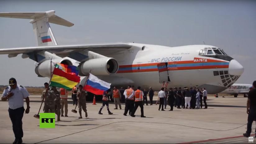 VIDEO: Un Il-76 ruso aterriza en Bolivia para unirse a la lucha contra los incendios forestales