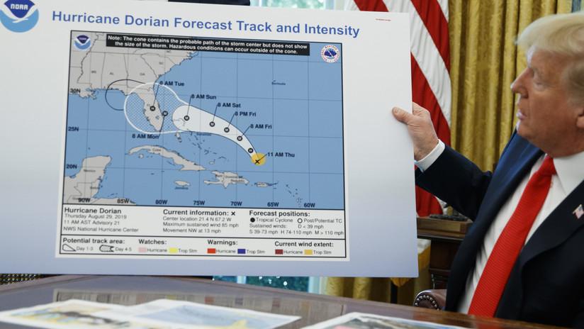 Reportan que la Administración de EE.UU. amenazó con despidos en la NOAA por contradecir a Trump sobre el paso de Dorian