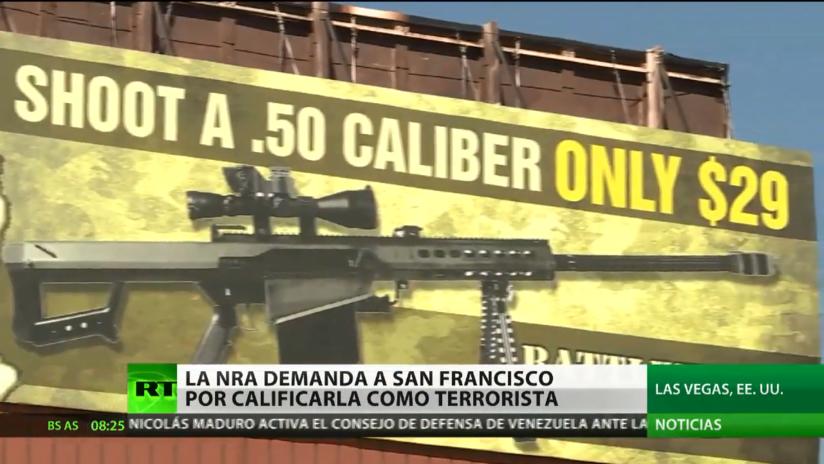 """La Asociación del Rifle en EE.UU. demanda a San Francisco por calificarla de """"terrorista"""""""