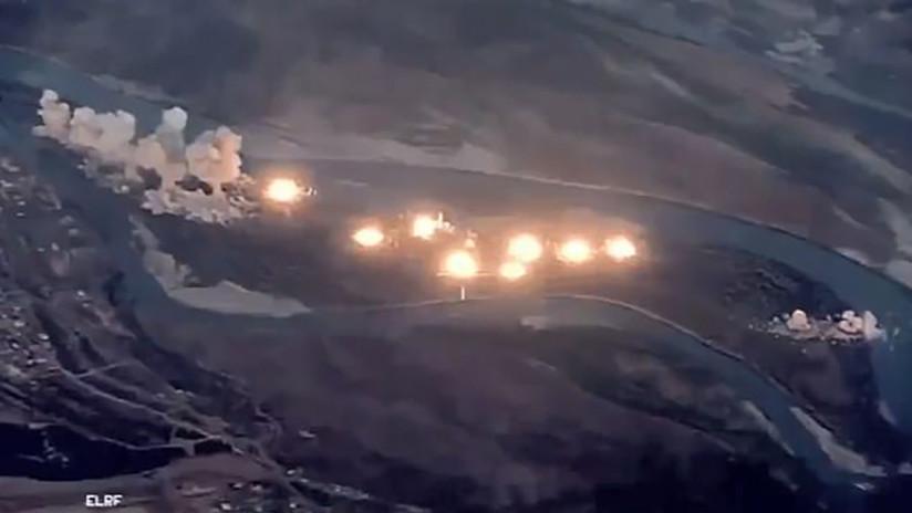 """VIDEO: Aviones de EE.UU. lanzan 36 toneladas de bombas contra una isla iraquí """"infestada por el EI"""""""