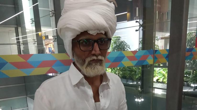 FOTO: Un joven indio se hace pasar por un anciano de 81 años para burlar a los agentes de seguridad y viajar a EE.UU. pero acaba detenido