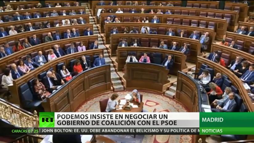 España: Podemos insiste en negociar un gobierno de coalición con el PSOE