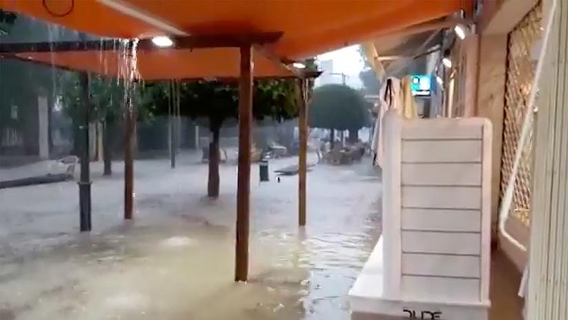 VIDEOS: Dos muertos y numerosos destrozos por las lluvias torrenciales en España