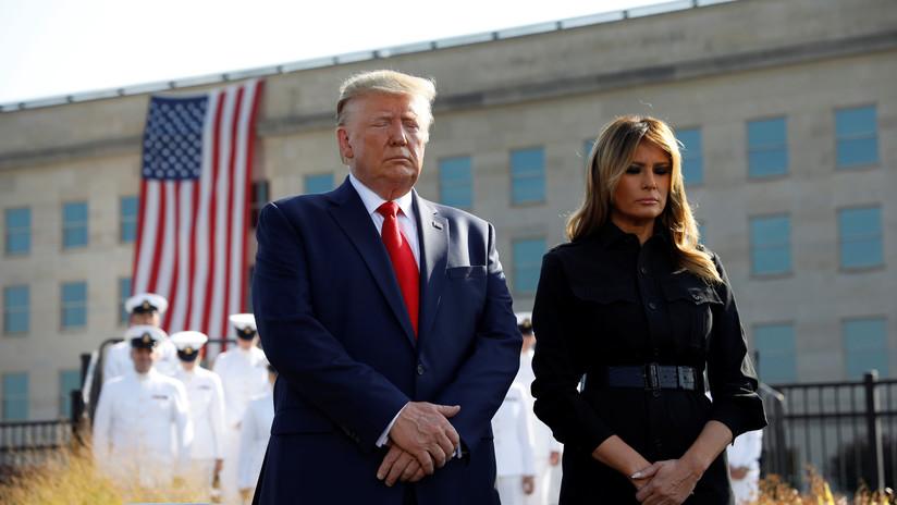 """La Casa Blanca tacha de """"ridículas"""" las críticas a la costura del abrigo de Melania Trump en el aniversario del 11-S"""