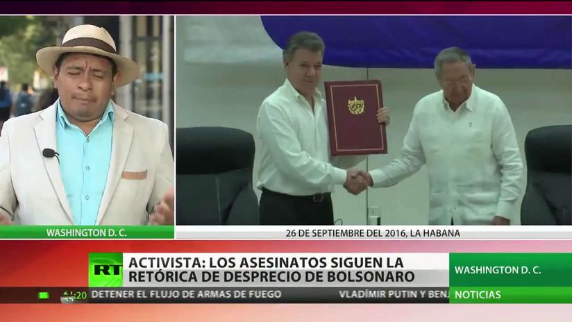 Un activista señala que los asesinatos de líderes indígenas en Brasil forman parte del régimen de desprecio de Bolsonaro