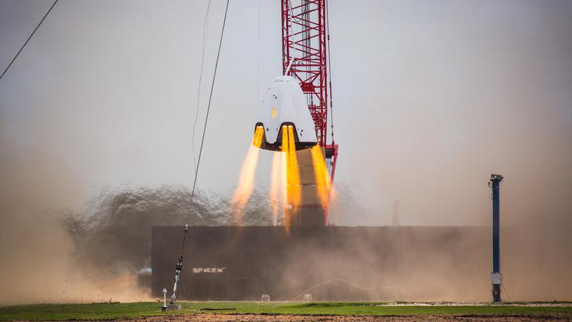 VIDEO: SpaceX realiza más de 700 pruebas de los propulsores SuperDraco de su 'taxi espacial' Crew Dragon
