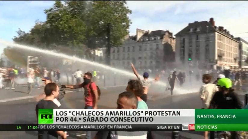 Los 'chalecos amarillos' toman las calles de Francia por 44.° sábado consecutivo