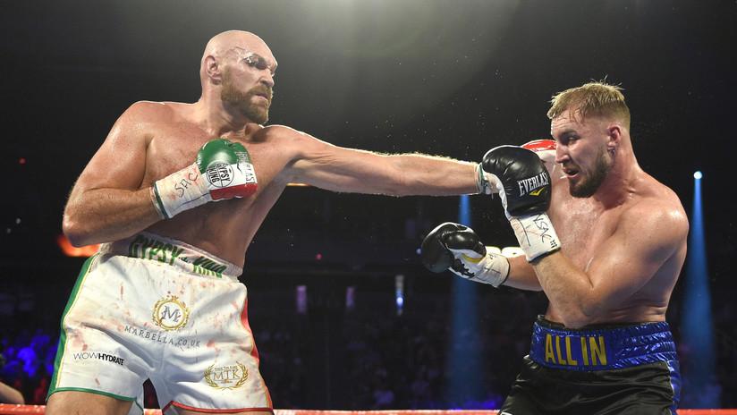 El boxeador de peso pesado Tyson Fury vence a Otto Wallin en una pelea sangrienta y retiene el título del CMB