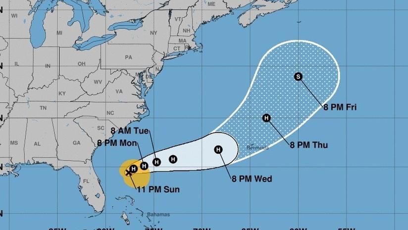 La tormenta tropical Humberto se convierte en huracán y se dirige a las Bermudas