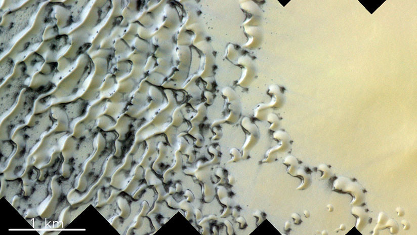 Publican una impresionante foto de las dunas de arena de Marte