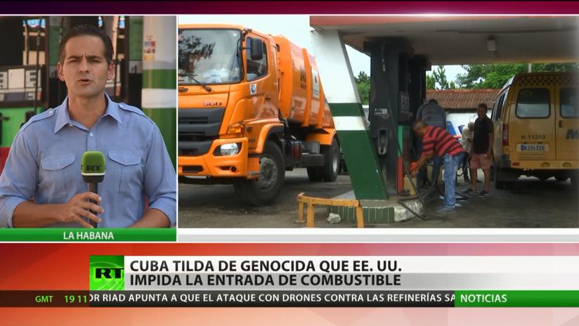 """Cuba denuncia como """"genocida"""" que EE.UU. impida la entrada de combustibles a la isla"""