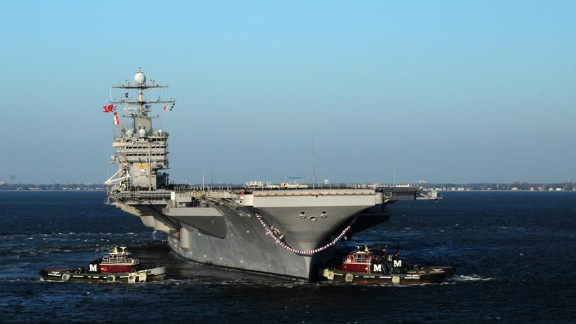 El portaaviones USS Harry S. Truman no puede participar en un ejercicio por un fallo técnico