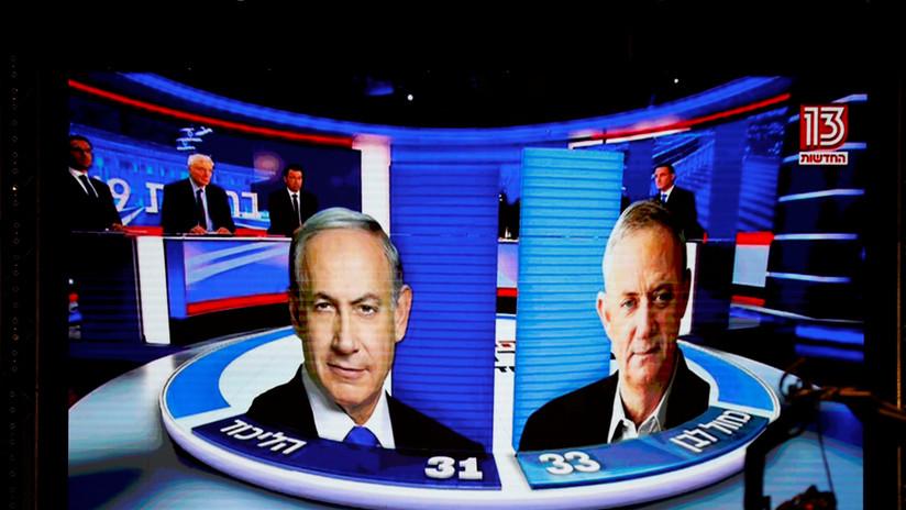 Sondeos a pie de urna: el partido de Netanyahu obtiene menos escaños en el Parlamento que su principal rival