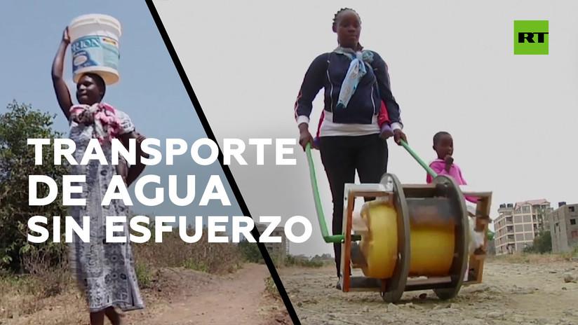Este invento permite transportar el agua sin esfuerzo