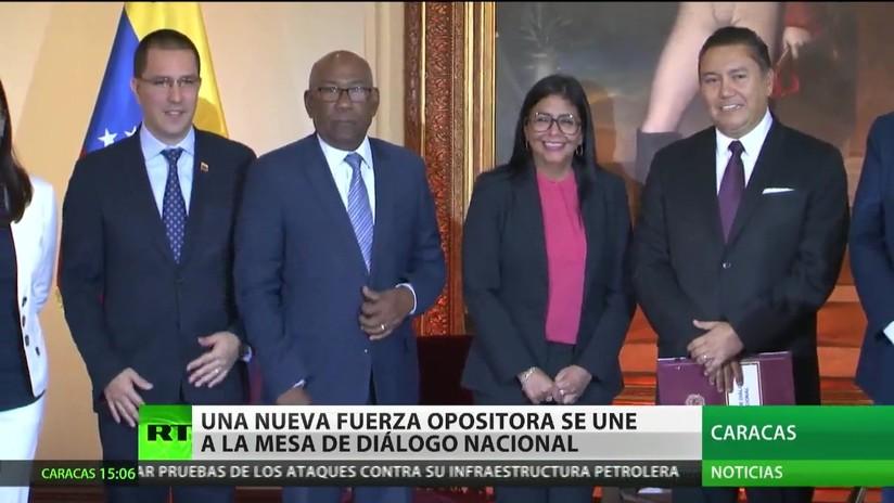 Una nueva fuerza opositora se une a la mesa de diálogo nacional en Venezuela