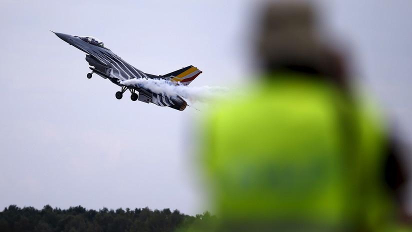 FOTOS: Un avión de combate F-16 de Bélgica se estrella al oeste de Francia