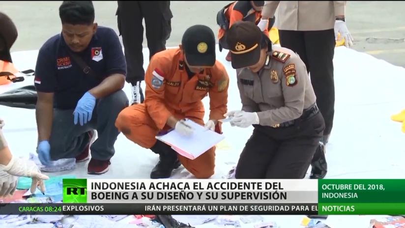 Indonesia acusa que el accidente del Boeing 737 MAX se debió a su diseño y supervisión