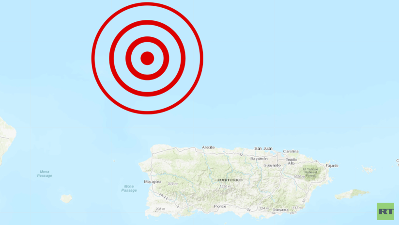 Resultado de imagen para Un sismo de magnitud 6,3 se produce cerca de las costas de Puerto Rico