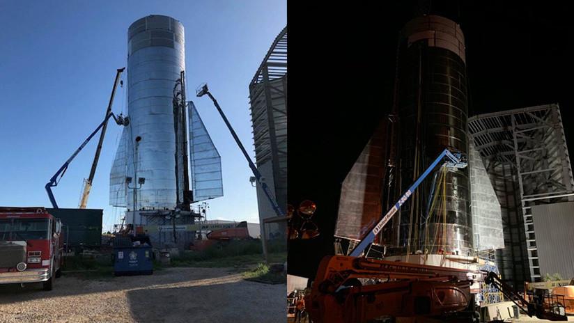 FOTOS: Musk muestra imágenes de la construcción de la nave que planea enviar a Marte