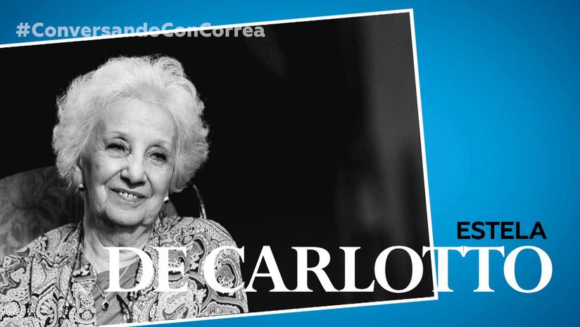 """Estela de Carlotto a Correa: """"No vamos a dejar que los tiempos oscuros vuelvan a nuestra América"""""""