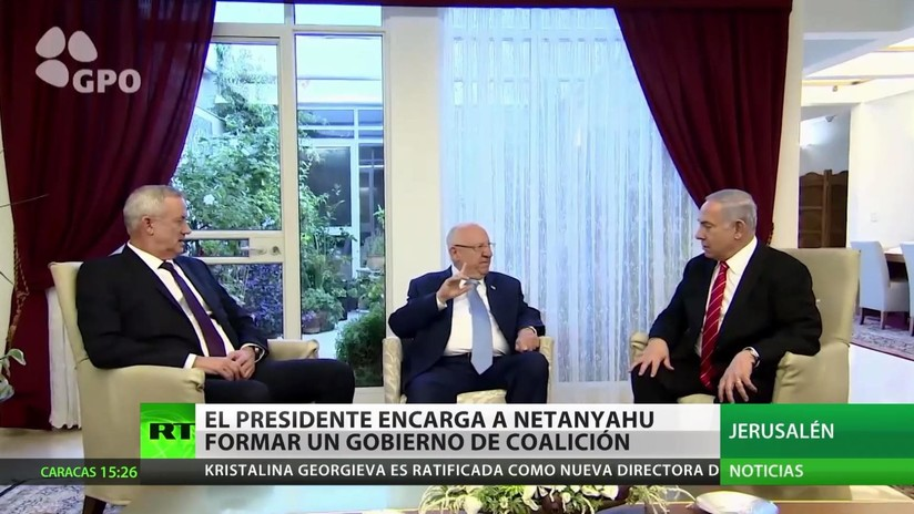 El presidente de Israel encarga a Netanyahu la formación de Gobierno