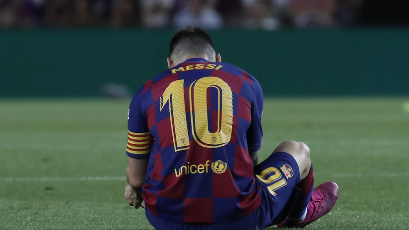El F.C. Barcelona comunica que Messi ha vuelto a lesionarse