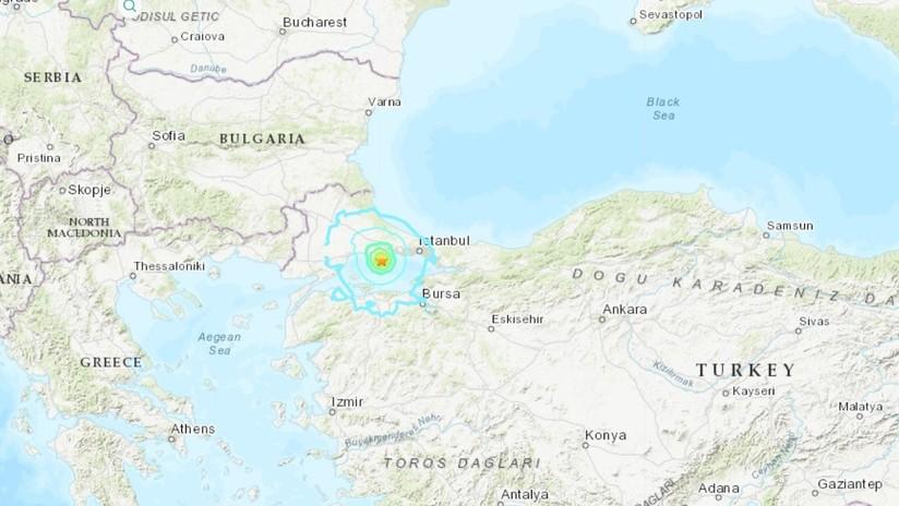 Se registra sismo de magnitud 5,7 al oeste de Turquía