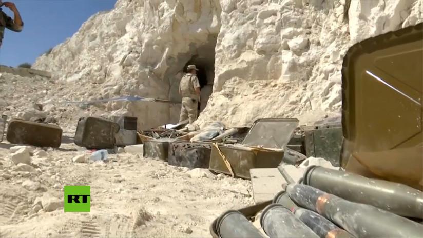 El fortín subterráneo que servía de base a los yihadistas en la ya liberada ciudad siria de Jan Sheijún