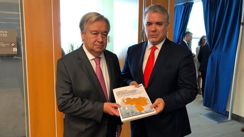Prueba falsa: una foto que Duque presentó a la ONU para 'demostrar' la presencia del ELN en Venezuela fue tomada en Colombia