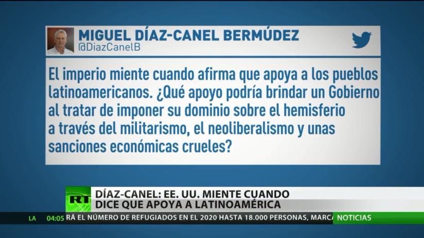 """El presidente de Cuba dice que EE.UU. """"miente"""" cuando afirma que apoya a Latinoamérica"""