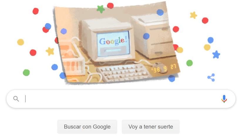 Google cumple 21 años y lo celebra con un 'doodle'