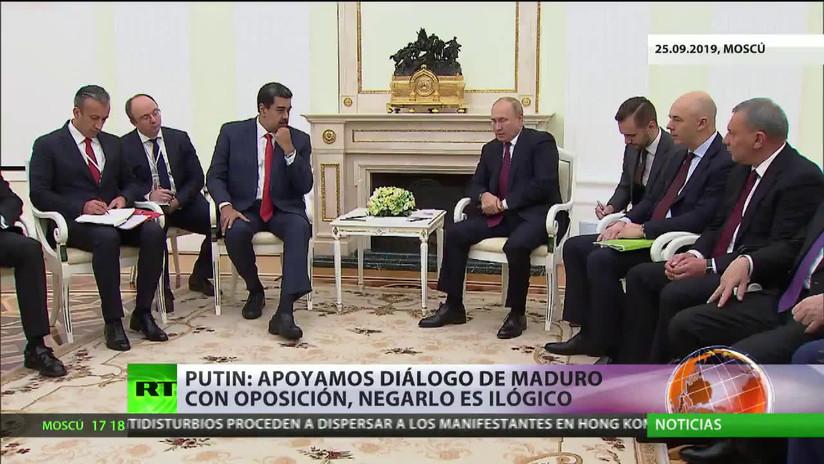 Putin reitera su apoyo al Gobierno de Maduro durante su reunión bilateral