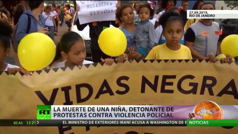 Brasil: La muerte de una niña, detonante de protestas contra la violencia policial