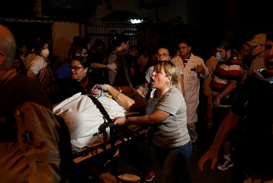 Incendio en un hospital de Río de Janeiro deja al menos 11 muertos