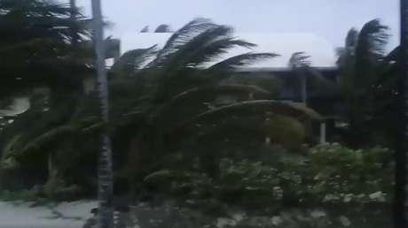 Las islas de Ábaco durante el paso del huracán Dorian