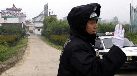 Imagen ilustrativa. Un agente de la Policía de China