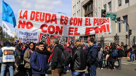 Organizaciones sociales reclaman al Gobierno que atienda sus necesidades básicas, el 4 de septiembre del 2019 en la Ciudad de Buenos Aires.