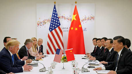 Donald Trump y Xi Jinping reunidos durante la cumbre del G20 de Osaka (Japón), el 29 de junio de 2019.