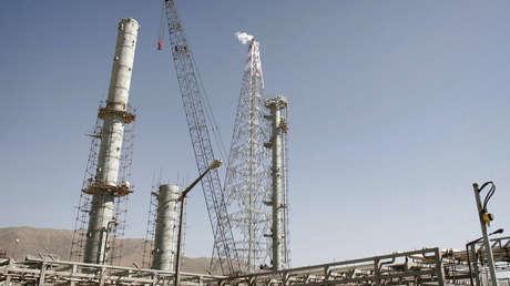 Las instalaciones de producción de agua pesada de Arak en el centro de Irán.