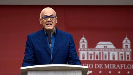 El ministro de Comunicaciones, Jorge Rodríguez, en el Palacio de Miraflores, 12 de marzo de 2019.