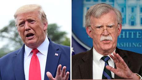 A la izquierda, Donald Trump, a la derecha, John Bolton.