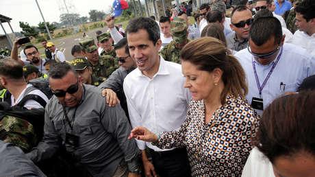 El diputado opositor Juan Guaidó el día de la fallida entrega de 'ayuda humanitaria', Cúcuta, Colombia, 23 de febrero de 2019.