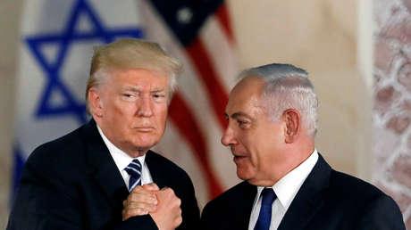 El presidente de EE.UU., Donald Trump, y el primer ministro de Israel, Benjamín Netanyahu
