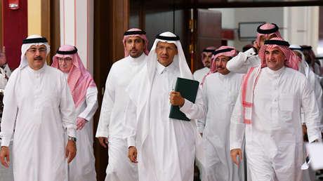 El ministro de Energía saudita, Abdulaziz bin Salmán, en una rueda de prensa en Yeda, Arabia Saudita, el 17 de septiembre de 2019.