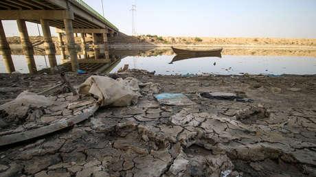 Indicios de la sequía en las afueras de la ciudad iraquí de Nasariya, el 20 de marzo de 2018