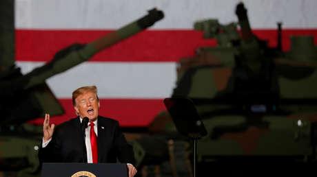 Donald Trump en una planta de fabricación de tanques en Ohio, EE.UU., 20 de marzo de 2019.