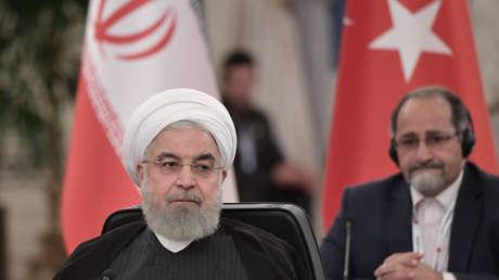 El presidente de Irán, Hasán Rohaní, en Ankara, Turquía, el 16 de septiembre de 2019.